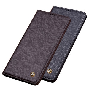 Business Genuine Real Leather Mobile Phone Case For ZTE AXON 30 Pro 5G/ZTE AXON 30 Ultra 5G Phone Holster Cover Stand Coque Hoes