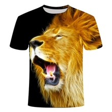 New Lion king 3d T-shirt Animal Shirt Camiseta T Shirt Men Funny Mens Clothing Casual Fitness Tee Top Tiger Tshirt Man Big Size