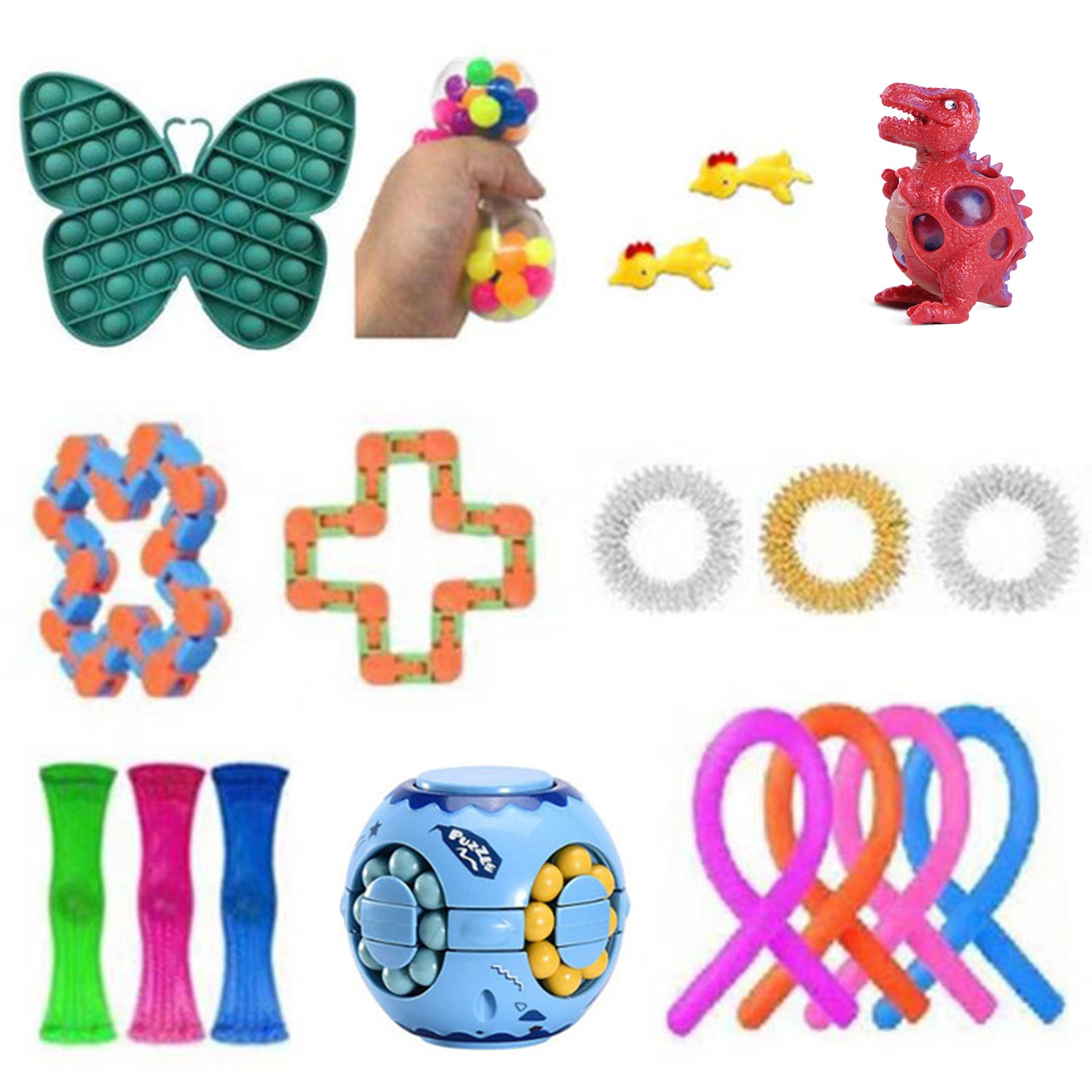 Decompression Sensory Fidget Toy Set Stress Relief Toy For Kids Adult Squeeze Toys For Kids Adults Anxiety Relief Stress Toy enlarge