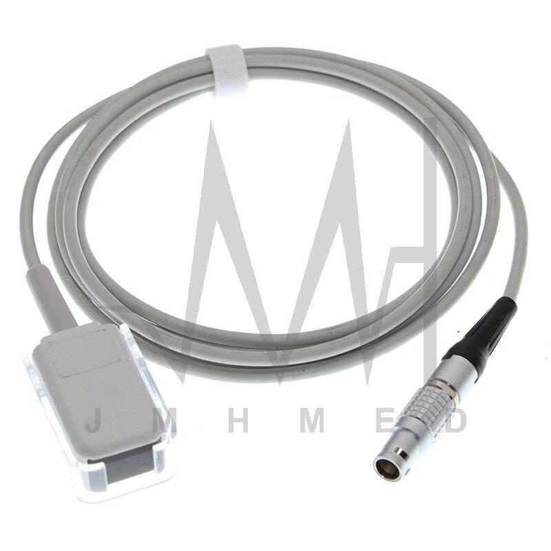 Spo2 Sensor Adapter Cable of Goldway UT4000A,UT4000C,UT4000E,UT4000F,UT4000APro,Monitor,For Nellcor DB 7P Non-Oximax Sensor