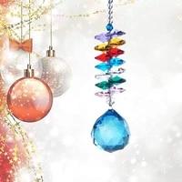 crystal prism 30mm faceted ball chandelier part rainbow maker window hanging ornament home garden wedding decor crafts