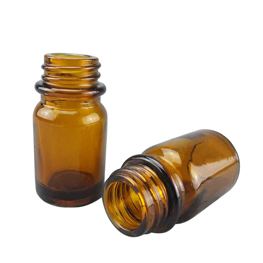 Botella de reactivo de instrumento de prueba herramientas de laboratorio botella médica de vidrio suministros de enseñanza botella de tornillo transparente marrón