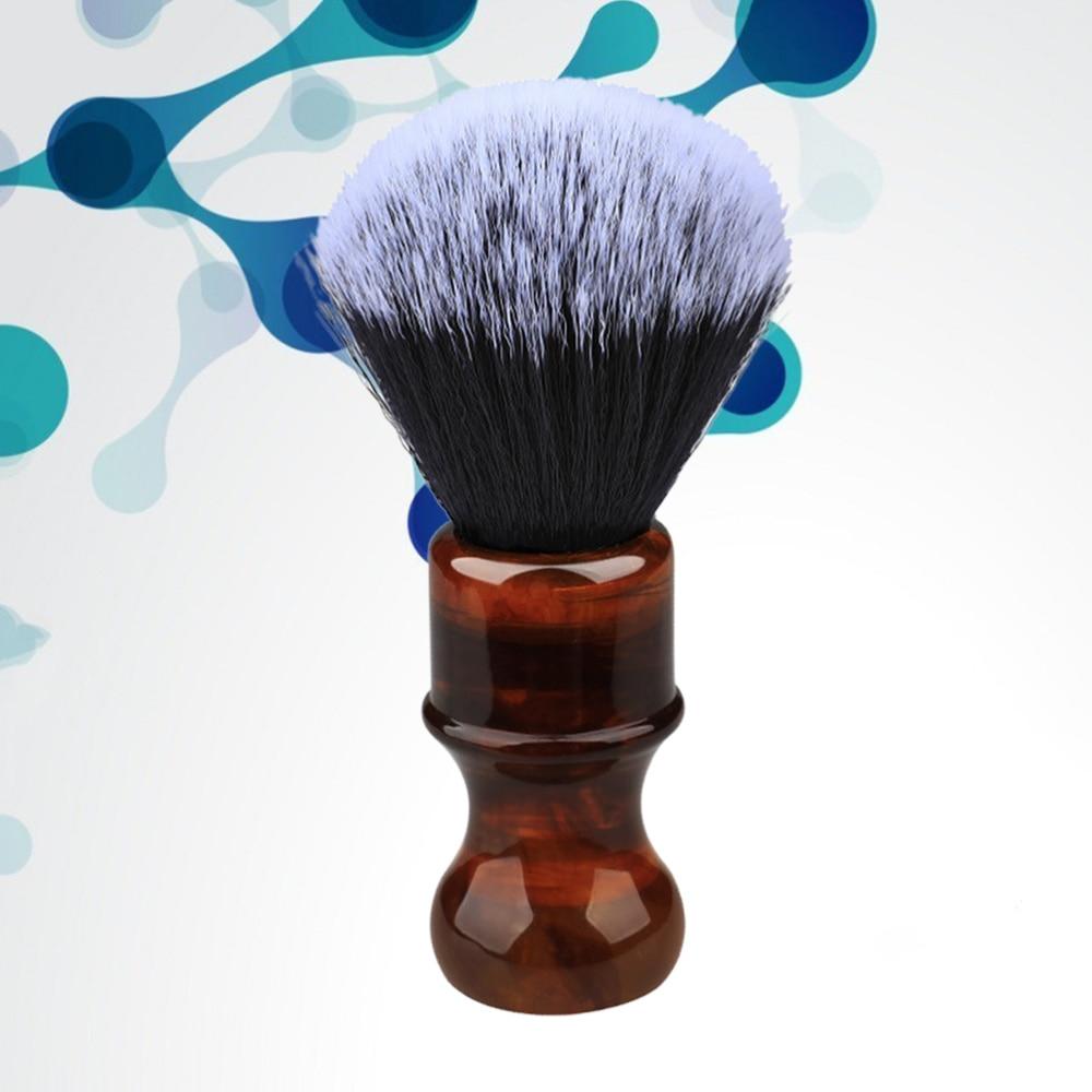 1 cepillo para Barba, mango de resina, cepillo para espuma, cepillo para bigote, cepillo de afeitar para hombres, niños y adultos