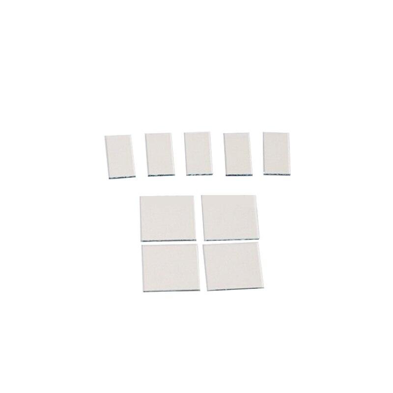 10*10*1.1 مللي متر 5ohm/Sq ، 100 قطعة مختبر شفاف موصل الزجاج الإنديوم القصدير أكسيد إيتو الزجاج المطلي الزجاج
