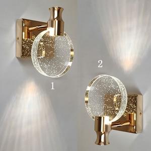Rhinestone Crystal Wall Lamp For Bathroom Mirror Light Makeup Lamp Modern LED Wall Lights For Bedside Bedroom Living Room