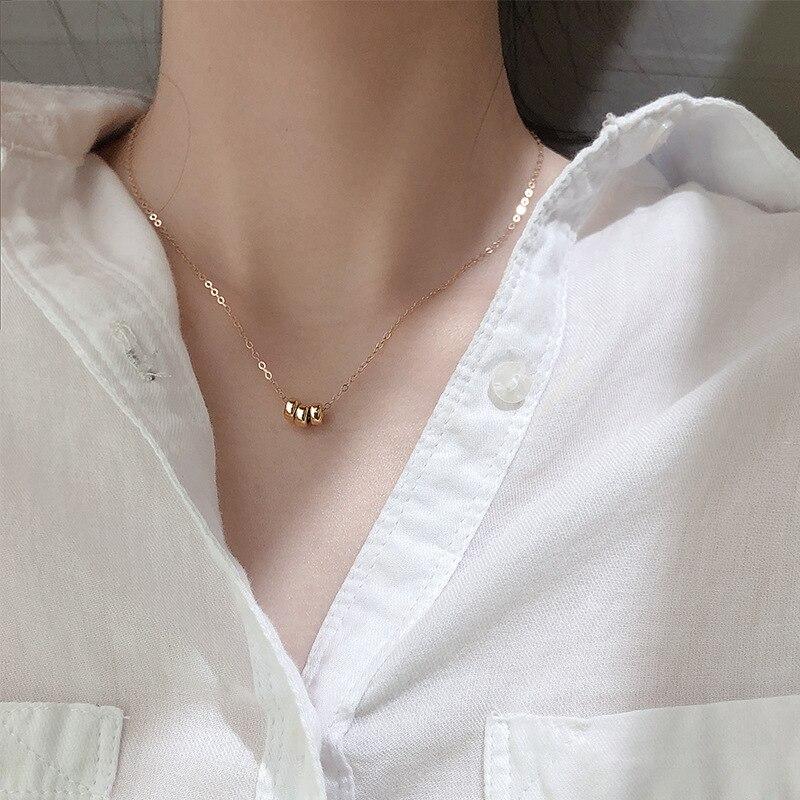 Coreano nuevo collar 2021 Tres anillos cadenas Collares para las mujeres Cadena...