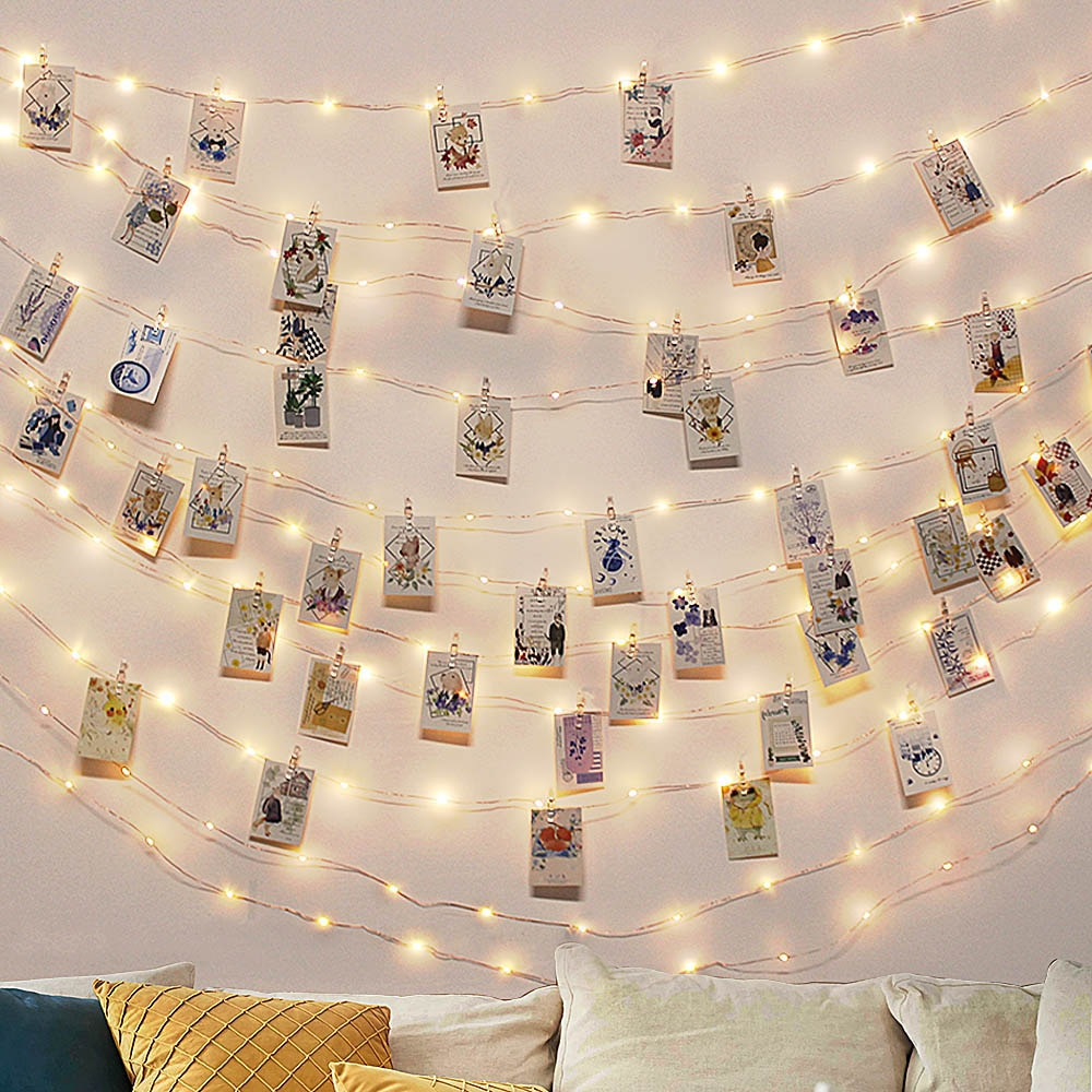led string light 10m 5m 2m cooper wire holiday light fairy light for christmas wedding party decoration powered by battery usb LED Fairy String Lamp 2M 5M 10M USB LED Light Strings Christmas Fairy Light For Photo Clip Battery Powered Wedding Party Decor