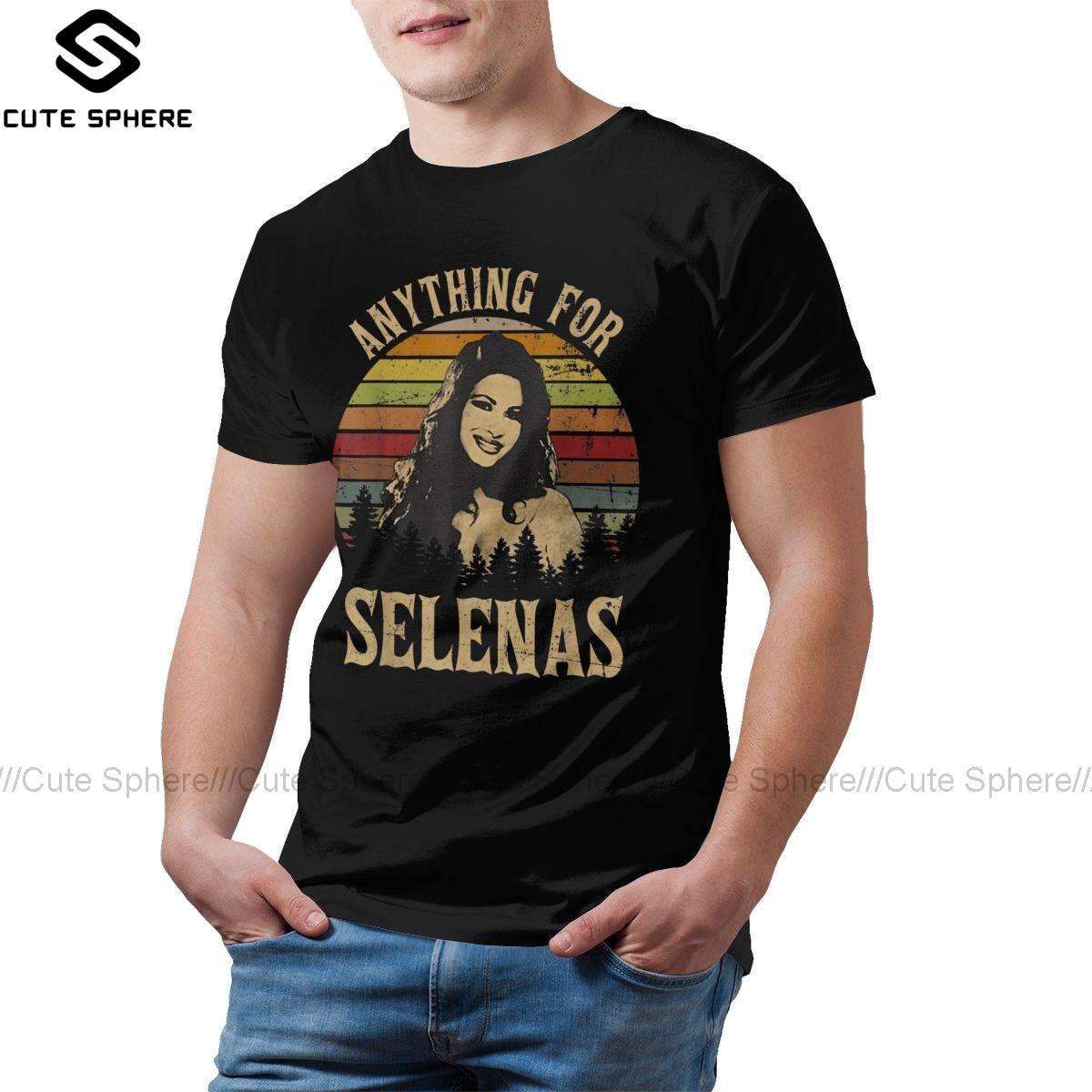 Selena Quintanilla, camiseta Vintage, cualquier cosa para Selenas, camiseta de playa para hombre, divertida camiseta 100 de algodón