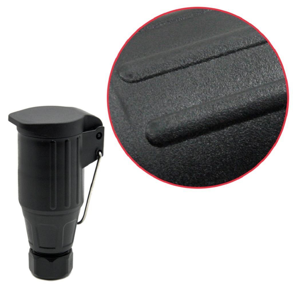 MagiDeal, luz de remolque de coche, luz de camión, adaptador de enchufe de 13 Pines, toma de remolque, 12 V, negro