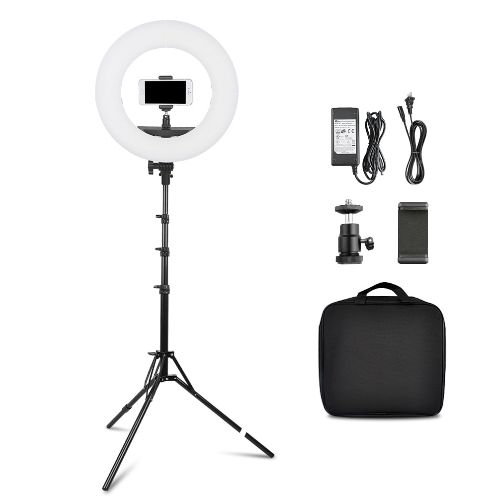 capsaver 14 inch 18 inch Ring Light LED Video Light Makeup Lamp with Tripod Stand TL-160S TL-600S L4500 RL-12A RL-18A enlarge