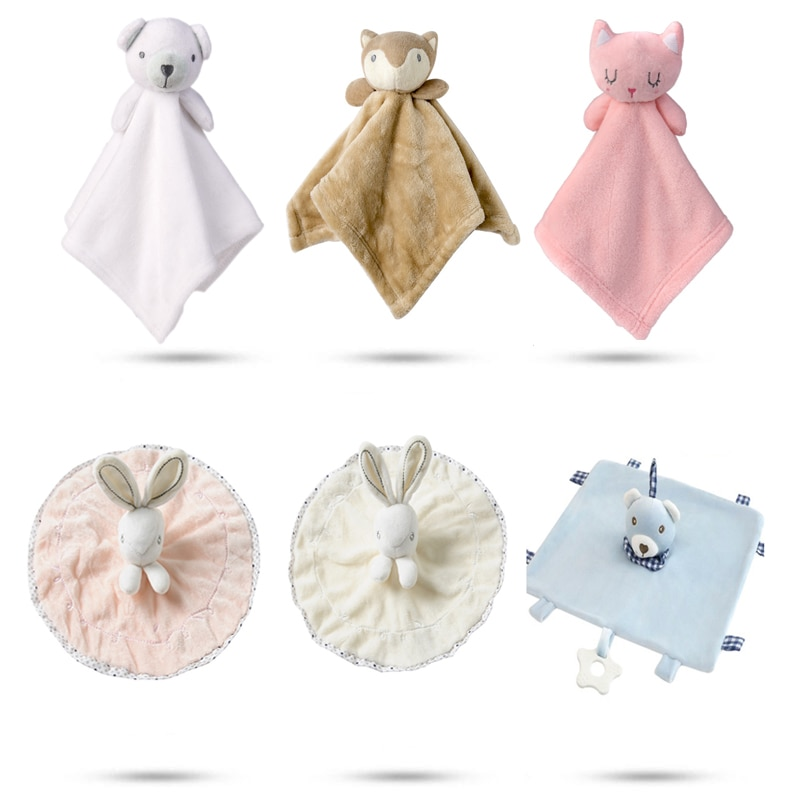 Cute Baby Rattle Bunny Soothing Towel Baby Plush Toy Infant Very Soft Security Blanket Friend Educational Plush Rabbit Doll Toys