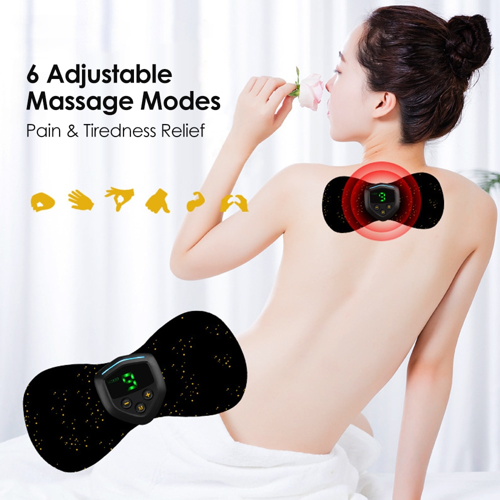 Перезаряжаемый usb массажер для шеи портативный мини физической терапии наклейки