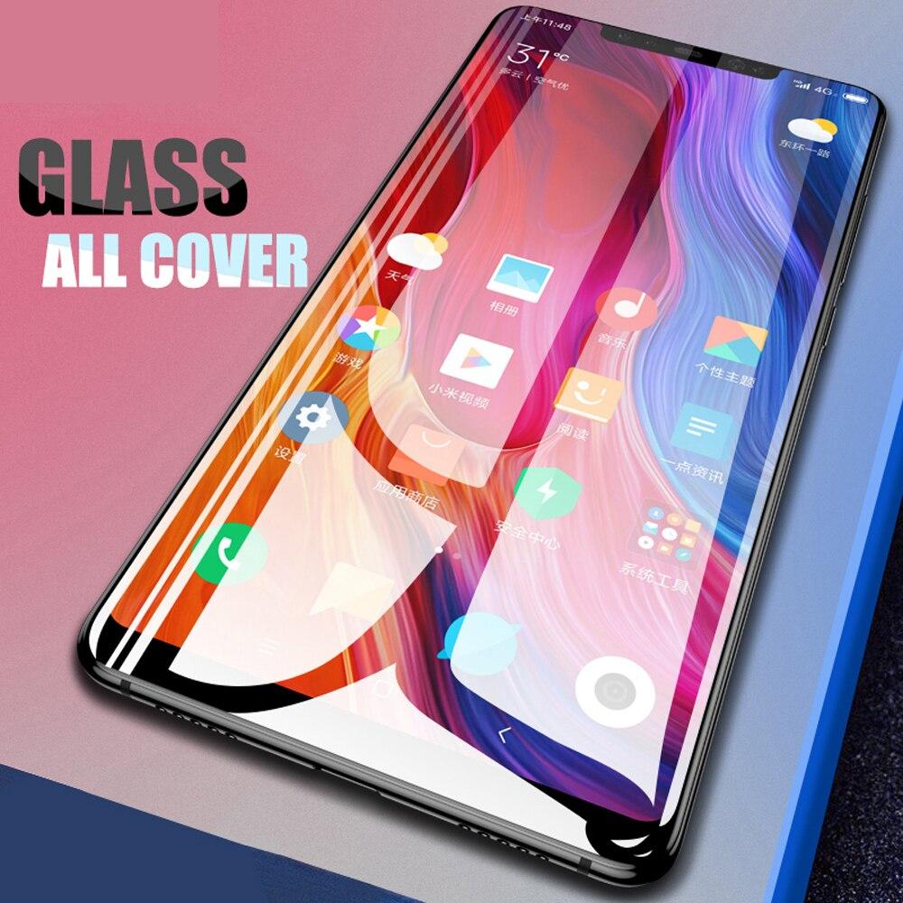 Para xiaomi mi a1 a2 lite mix 2 2s mix 3 pocofone f1 protetor de tela de vidro protetor de tela do telefone proteção vidro temperado