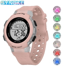 SYNOKE Band Watches For Kids Girls 50M Waterproof Digital Electronic Watch Kid Student Sport Style C