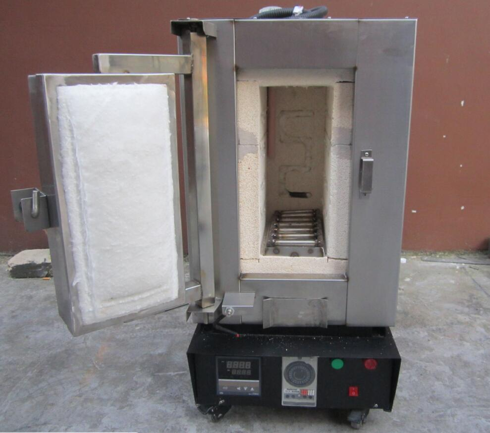 Numeral Burnout Furnace for lost wax, 2 Flasks, Medium Frequency Gold Melting Machine, Gold,K-gold, silver, copper Brun out