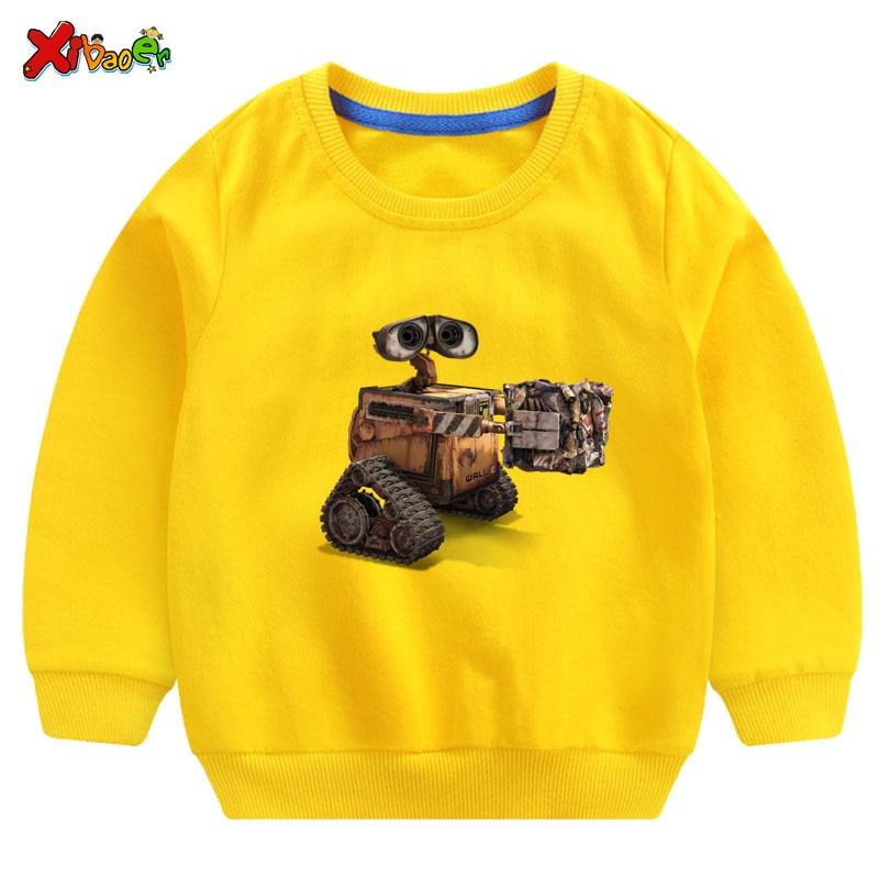 Ropa de pared para niños y niñas, Sudadera con capucha de algodón blanco, Jersey, camiseta de Otoño de manga larga para bebés 2019, ropa de calle para niños