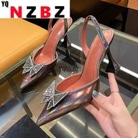 yqnzbz champagne silver women pumps pointed toe rhinestone crystal high heels woman wedding dress pumps on cup heeled mules