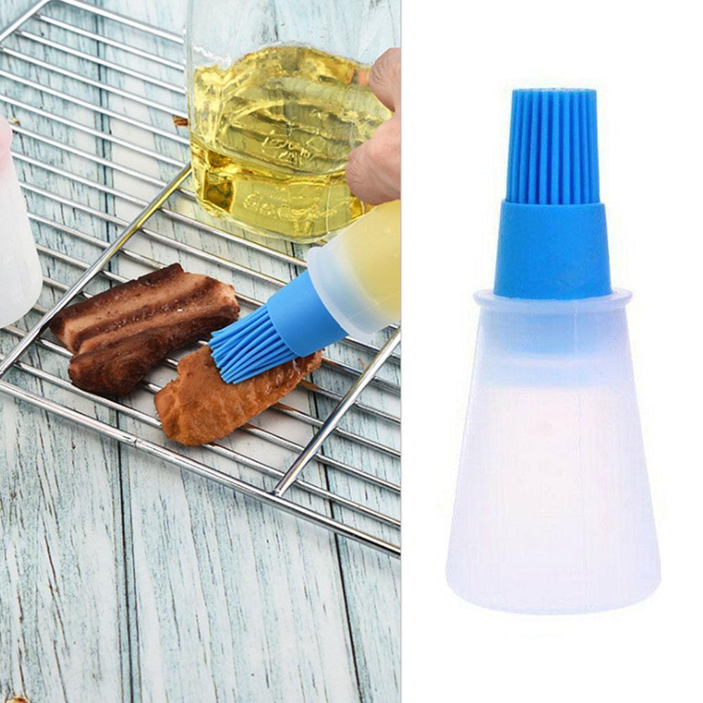 Botella de aceite del cepillo de silicona para asar, brochas para parrilla,...