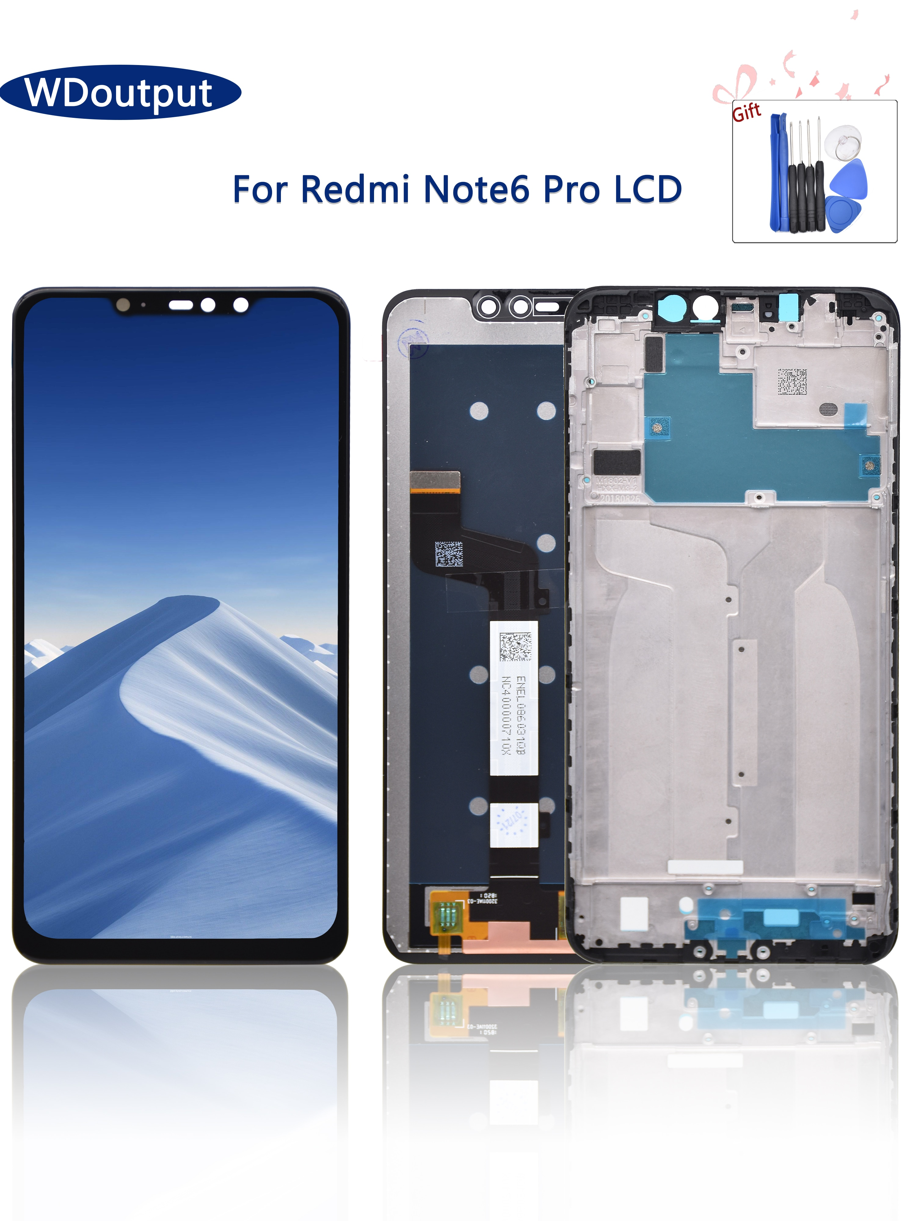 الأصلي جديد LCD ل شاومي Redmi نوت 6 برو LCD عرض تعمل باللمس محول الأرقام الجمعية LCD مع الإطار ل Redmi نوت 6 برو LCD