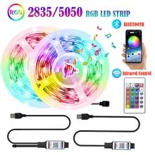 2835 5050 LED Light Strips Bluetooth APP Control RGB 5V USB Infrared Flexible Decoration BackLight L