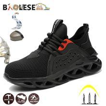 BAOLESEM homme chaussures de sécurité maille chaussures de travail embout en acier chaussures de travail de sécurité Anti-fracassant travailleur de la Construction chaussures indestructibles