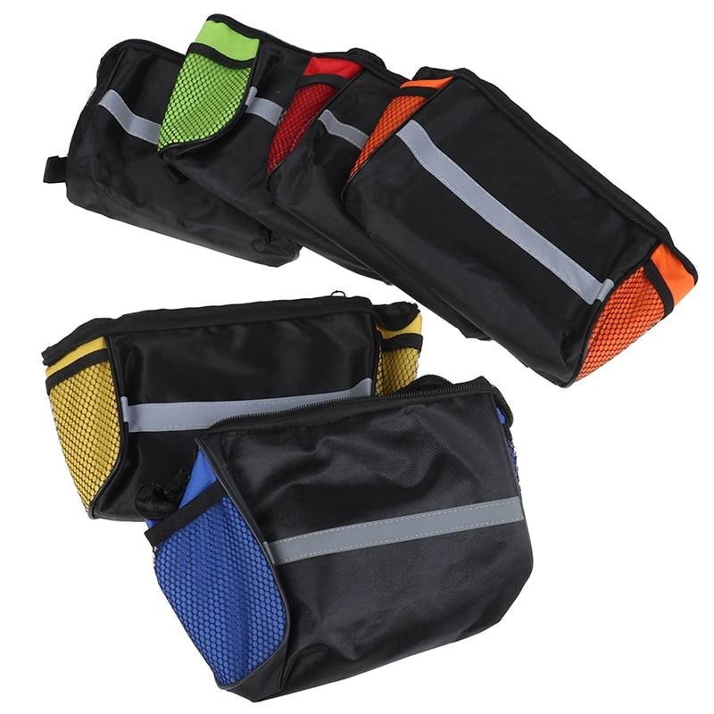 1 ud. De bolsas de bicicleta resistentes al agua, bolsa de lona para manillar, cesta delantera para bicicleta