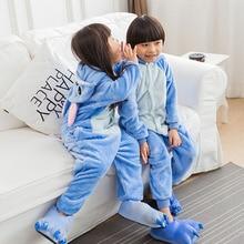 Kids Stitch Unicorn Kigurumi Onesie Boy Girl Halloween Costume Fancy Animal Cosplay Child Baby Funny