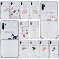 creative cute couple phone case transparent for samsung s9 s10 s20 huawei honor p20 p30 p40 xiaomi note mi 8 9 pro lite plus