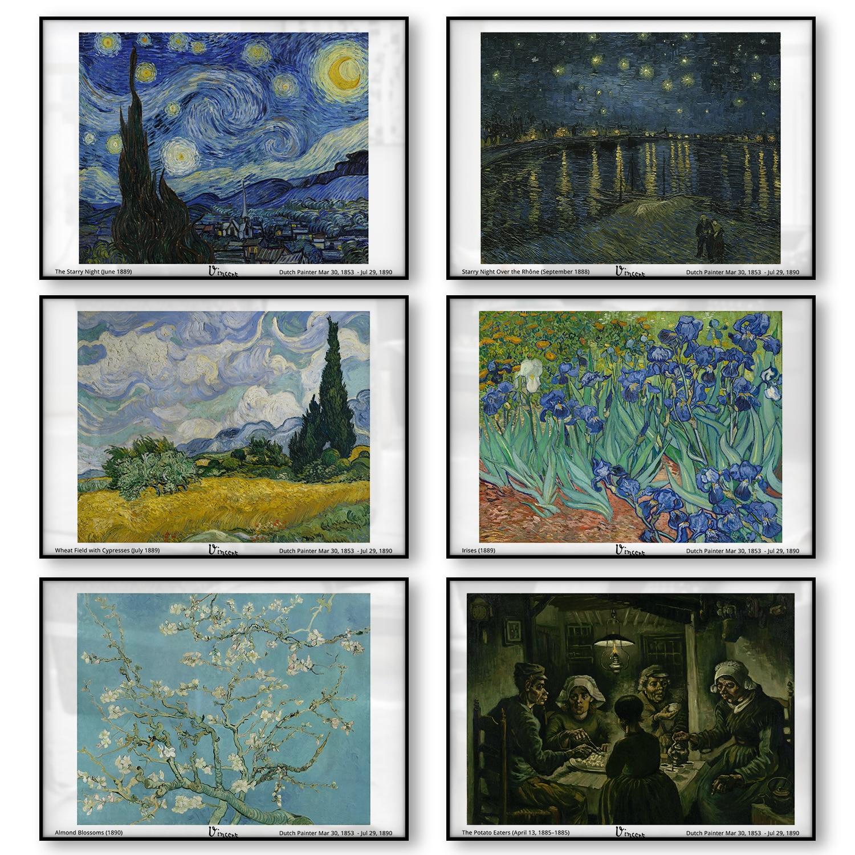 Vincent Van Gogh Sternennacht über der Rhône Fluss Iris Mandel Blüten Kartoffel Eater Leinwand Drucken Poster Öl Malerei Wand kunst