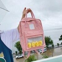 Qiaoduo School Backpack Women 2020 Female Cute Cartoon Transparent Students Schoolbag Shoulder Bags Fashion Canvas Backpacks Bag