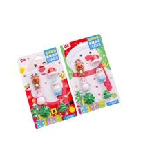 8packs/lot New Christmas Santa snowman elk  Rubber Eraser Stationery for Kids Student Gift Office Supplies Wholesale