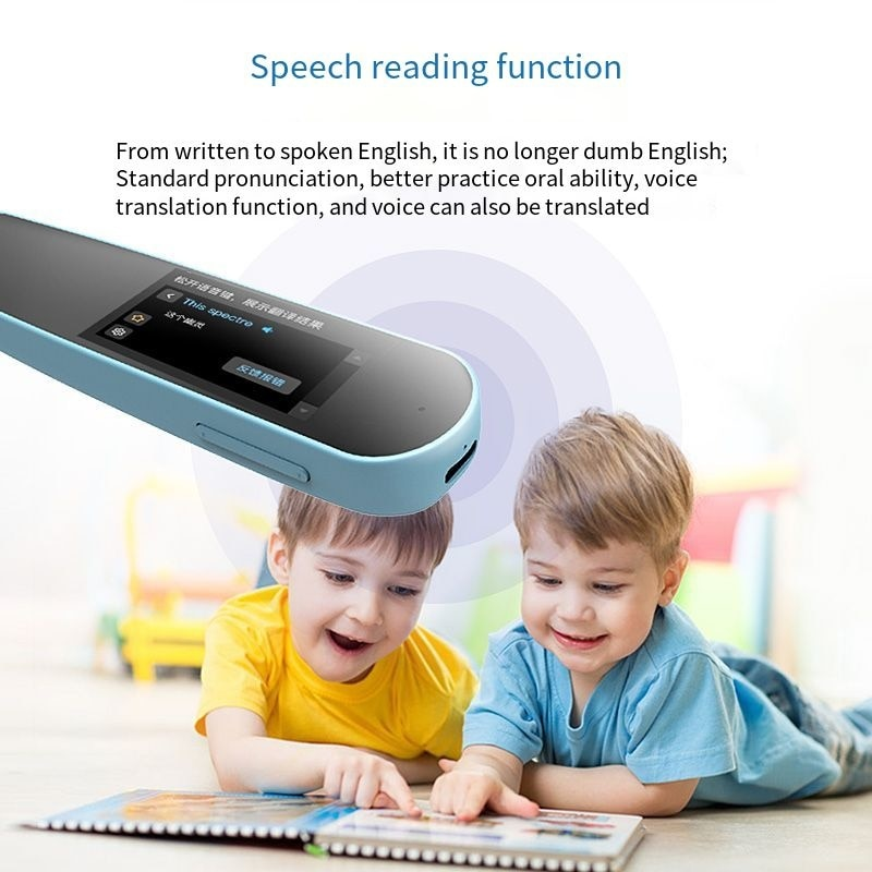 1.9-inch multifunctional language learning pen, S2 scanning pen with WiFi, language translation, English / Chinese enlarge