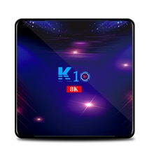 K10 Android 9.0 4GB/32GB 64GB 128GB TV BOX S905X3 4K BT 4.1 USB 3.0 2.4G/5.8G WiFi 1000M Lan HD2.0 OTT TV BOX VS H96 MAX