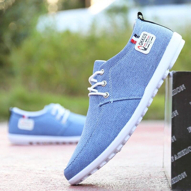 Los hombres vulcanizar Zapatos azul zapatos de lona zapatos de los hombres de la primavera de 2020 nuevo zapatillas estilo Soft Flats de Hombre Zapatos casuales zapatos de hombre zapatillas de deporte