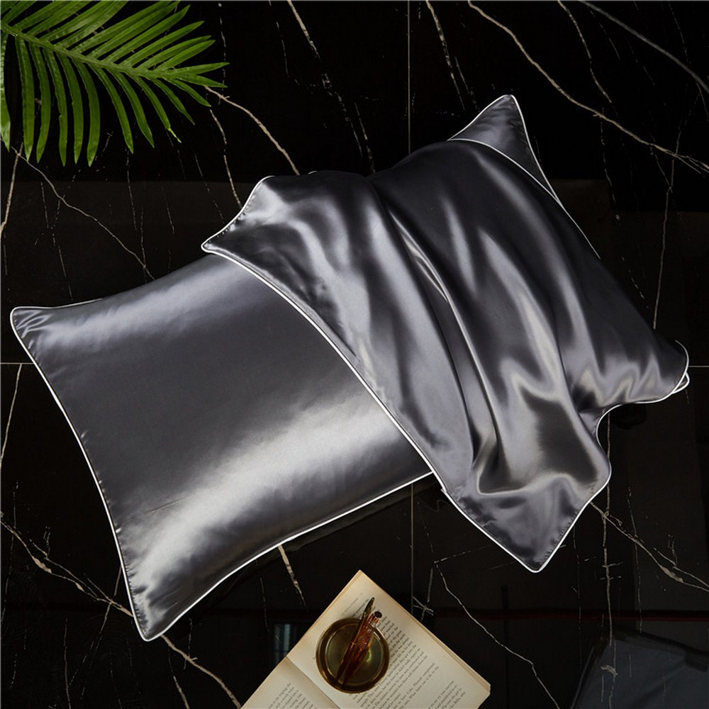 Чехол для подушки из шелка тутового шелкопряда, чехол для подушки высшего качества, чехол для подушки 48x74 см, чехол для подушки, простые наво...