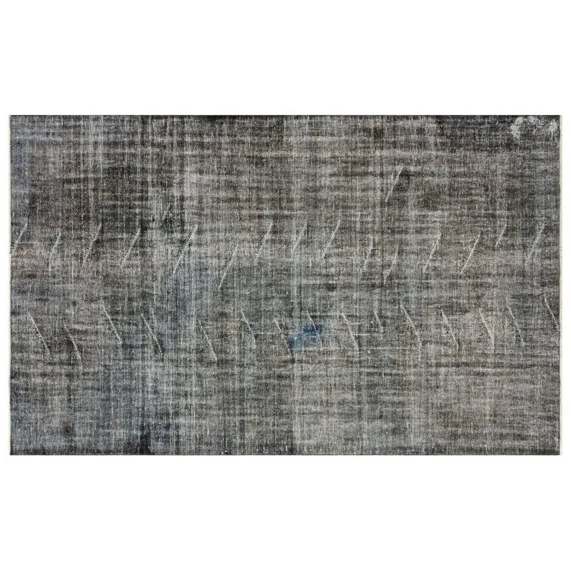 Handmade Gray Vintage Overdyed Turkish Area Rug 180x285 Cm-5'11''X9'4''