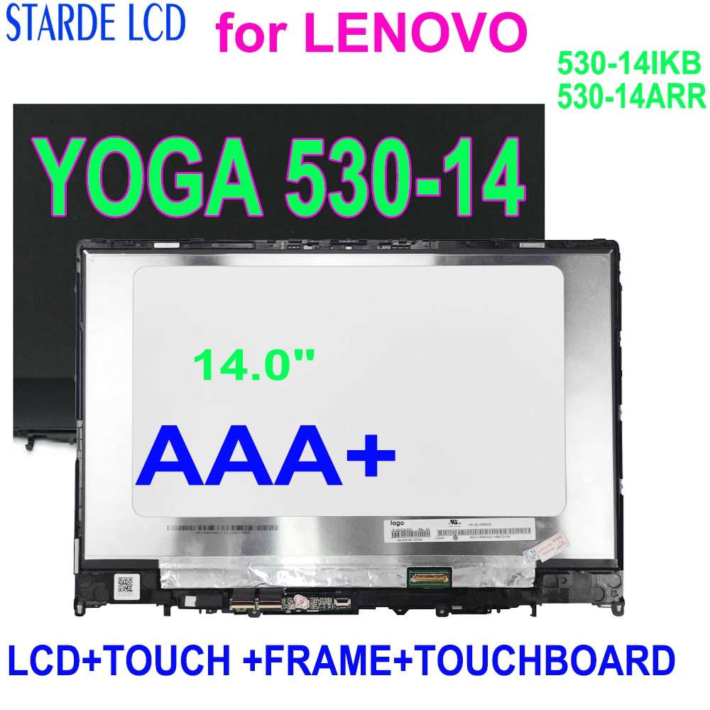 14.0 inch FOR LENOVO YOGA 530-14 Yoga 530-14IKB Laptop LCD Display with Touch Screen Digitizer Assembly FHD1920*1080 YOGA 530-14
