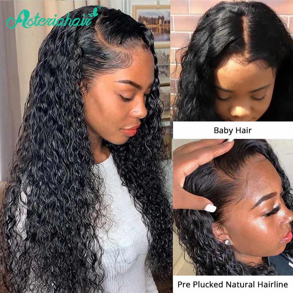 Asteria Water Wave 13x4 Lace Frontal Human Hair Wigs For Black Women Brazilian Human Hair Wigs Pre Plucked Baby Hair Remy Hair Human Hair Lace Wigs Aliexpress