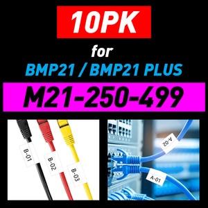 1/5/10PK Nylon Label Tape M21 250 499 6.35mm*4.9m M21 Tape Compatible BMP21 BMP21-PLUS LAB Label Printer M21 750 427 Ribbon