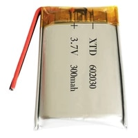 3 7v 300mah 602030 lithium polymer li po li ion rechargeable battery cells for mp3 mp4 mp5 gps psp mobile bluetooth compatible