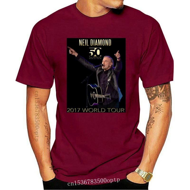New Neil Diamond 50th Anniversary Wolrd Tour Womens t-shirt size S-2XL