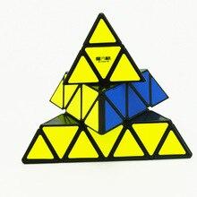 [XMD Pirámide de cuarto orden] cubo mágico de alta orden en forma de cubo Triangular Rubik juguete educativo suave al por mayor