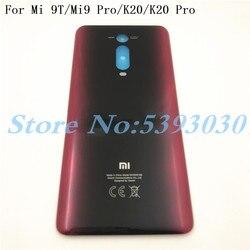 Original 6.39 polegada para xiaomi mi 9 t mi9t pro/redmi k20/k20 pro voltar bateria capa porta habitação caso peças de vidro traseiro