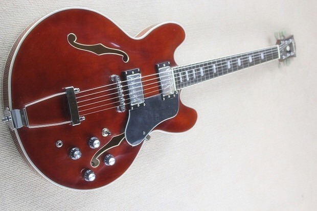 Envío Gratis nueva llegada guitarra de jazz eléctrica personalizada de alta calidad...