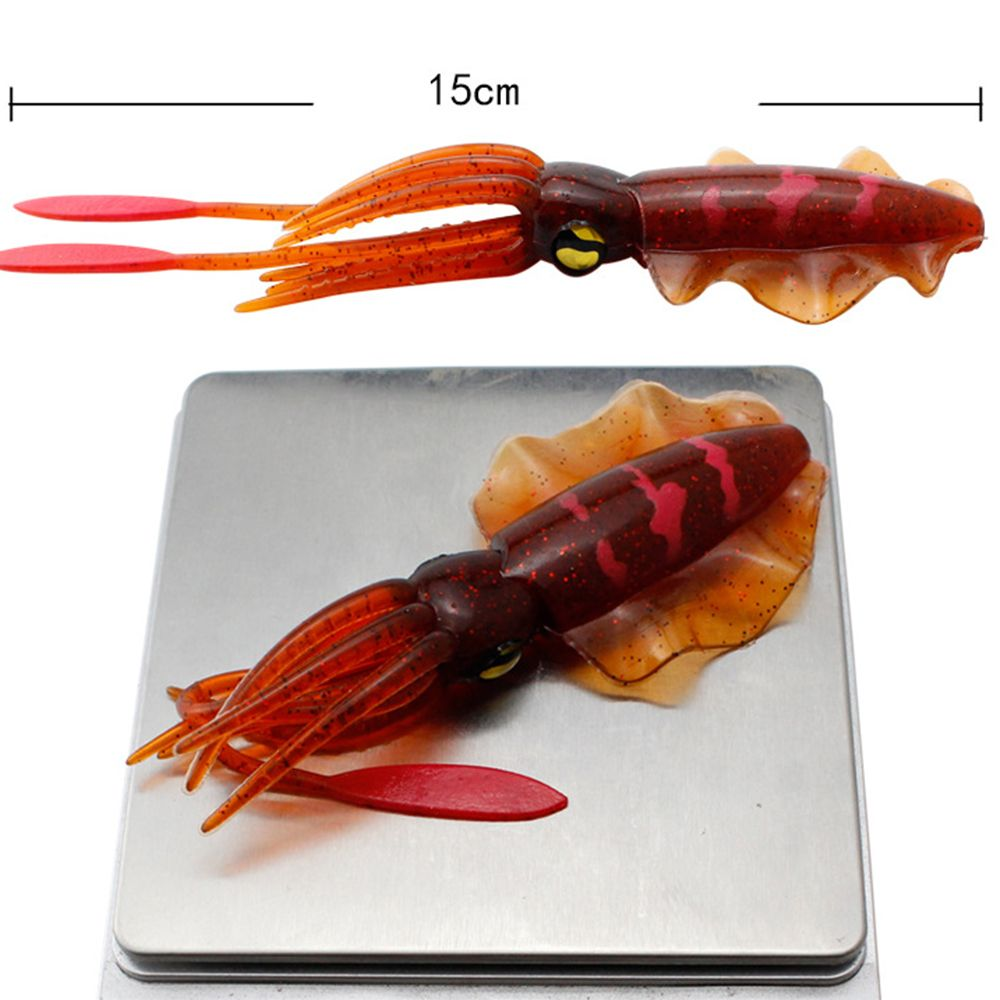 Durable Artificial Swim Portable Squid Skirt Lure Saltwater Octopus Bait long tail Fishing Tackle free shipping 5 5 inch octopus lure double octopus skirt resin head with hook line fishing tackle suit cheap fishing package