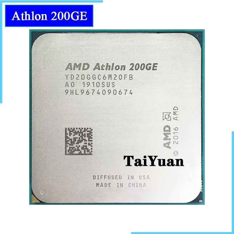 AMD Athlon 200GE X2 200GE 3.2 GHz Dual-Core Quad-Thread di CPU Processore YD20GGC6M2OFB / YD200GC6M2OFB Presa AM4