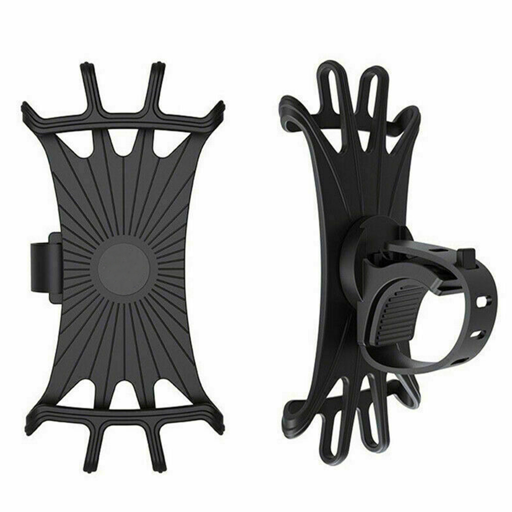Silicone Phone Holder Bicycle Motorcycle Stand 360° Rotatable Riding Cycling Bicycle MTB Bike Phone DVR GPS Support Bracket