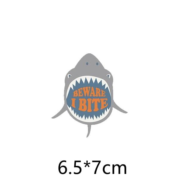Parches DIY, Parche de velcro para ropa, bonitos parches para planchar en tiburón para ropa, parche bordado con dibujos animados AB15