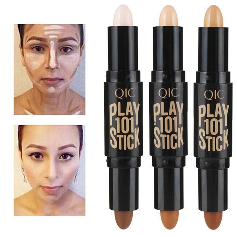 1 Uds iluminador profesional Stick Base maquillaje bronceador damas rubor para rostro maquillaje contorno corrector lápiz