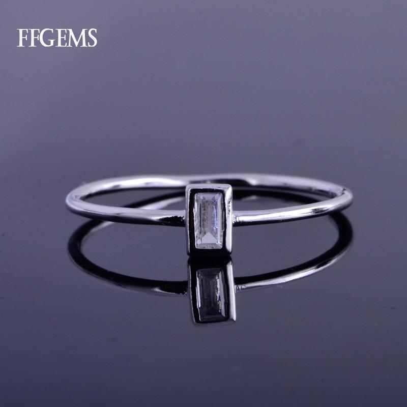 خاتم أنيق من الذهب عيار 10K من ffgem خاتم مويسانيتي EF ملون مجوهرات راقية للنساء هدايا لحفلات الزفاف والزواج للسيدات